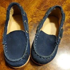 Janie and Jack loafer baby boys navy blue shoe 6C
